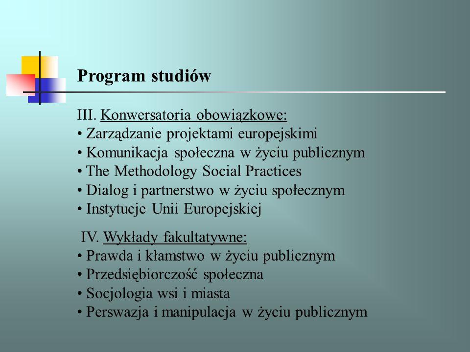 Program studiów V.