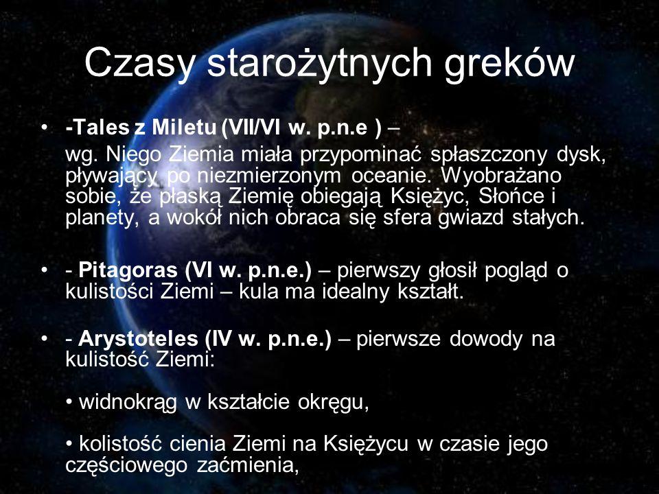 Czasy starożytnych greków -Tales z Miletu (VII/VI w.