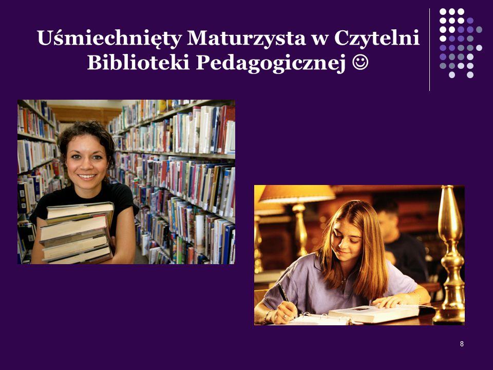 8 Uśmiechnięty Maturzysta w Czytelni Biblioteki Pedagogicznej