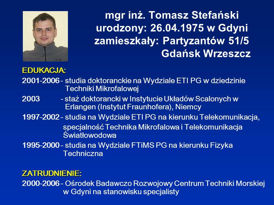 1.Tomasz Stefański, Bogdan J.