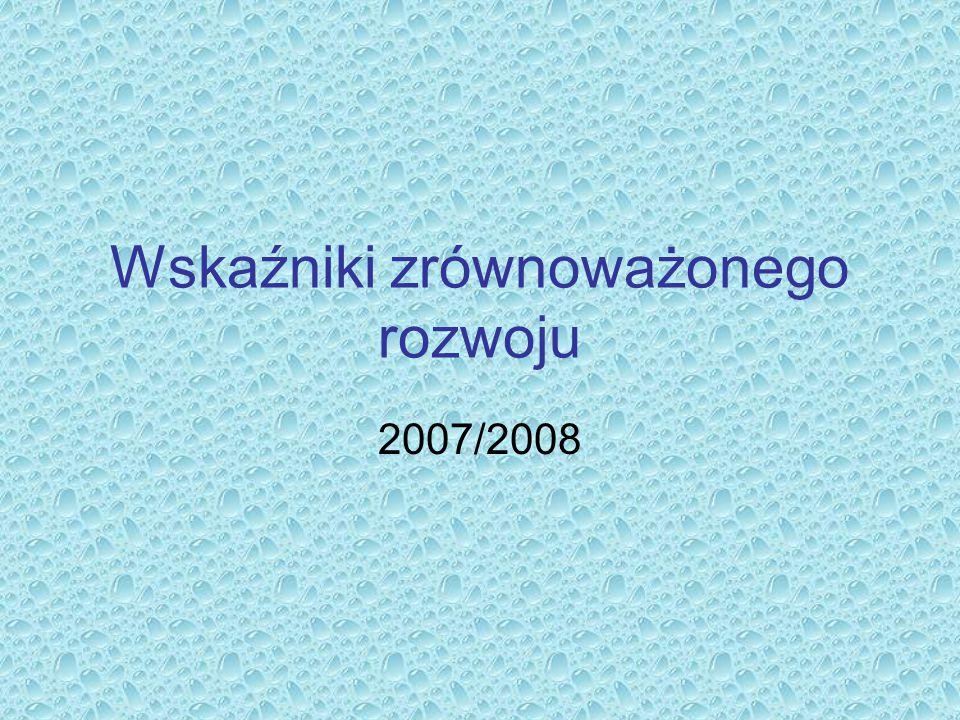 Wskaźniki zrównoważonego rozwoju 2007/2008