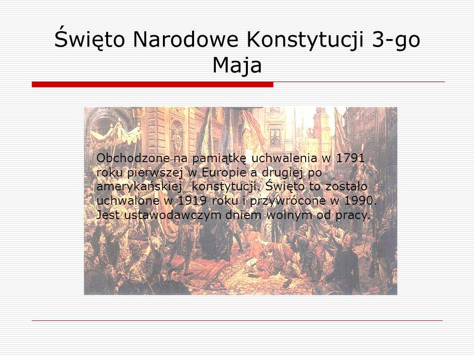 Obchodzone na pamiątkę uchwalenia w 1791 roku pierwszej w Europie a drugiej po amerykańskiej konstytucji. Święto to zostało uchwalone w 1919 roku i pr
