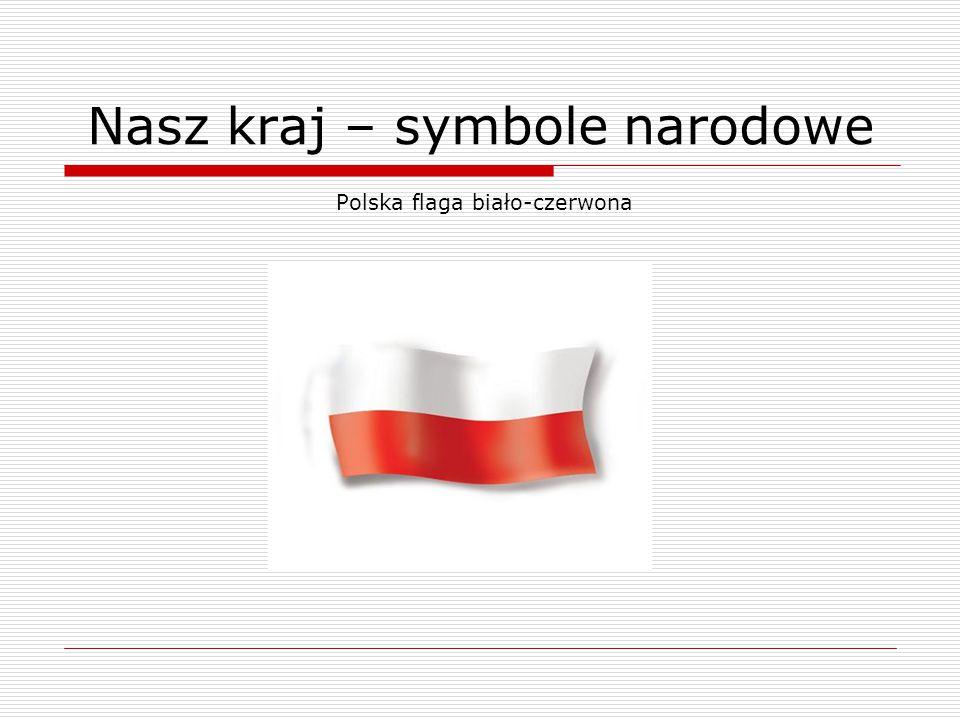 Polska flaga biało-czerwona