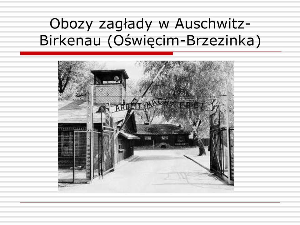 Obozy zagłady w Auschwitz- Birkenau (Oświęcim-Brzezinka)