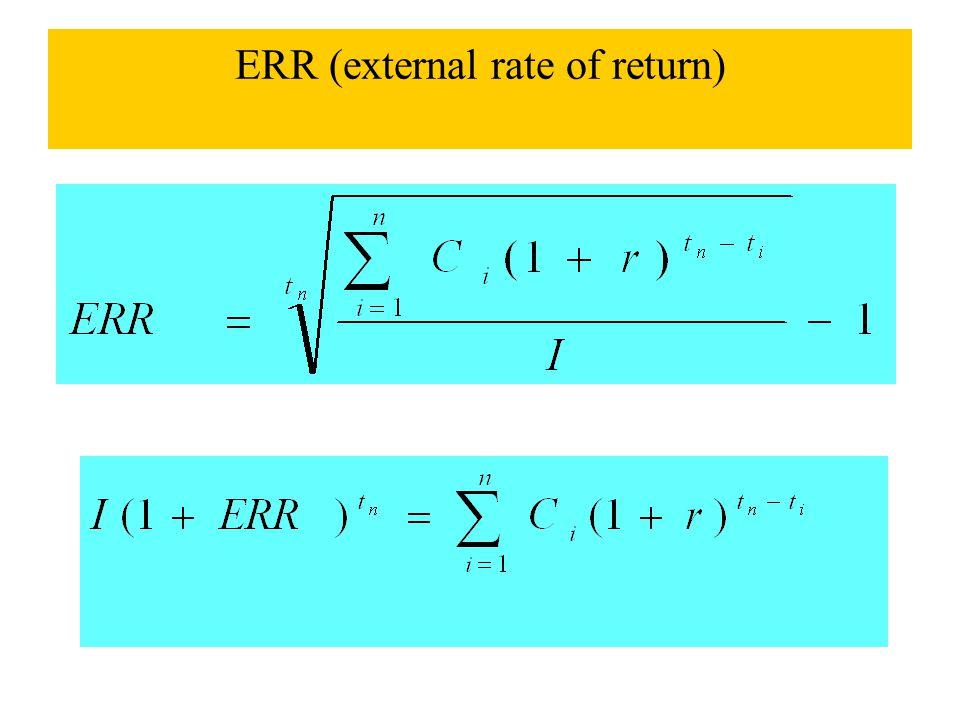 ERR (external rate of return)