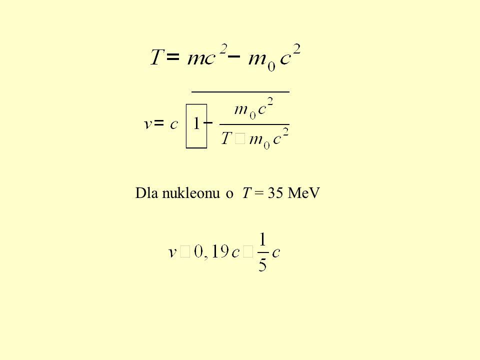 Dla nukleonu o T = 35 MeV