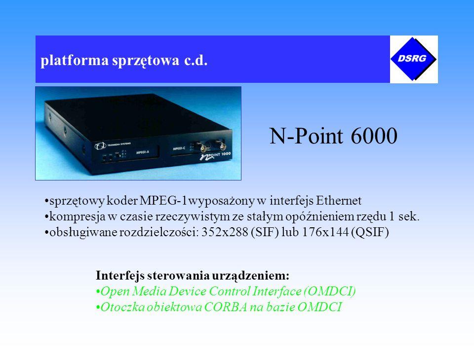 platforma sprzętowa c.d. Konfiguracja sieci komputerowej wykorzystywanej do testów systemu