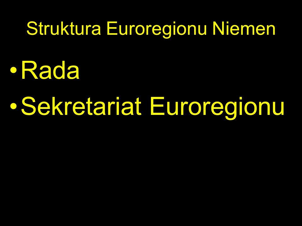 Struktura Euroregionu Niemen Rada Sekretariat Euroregionu