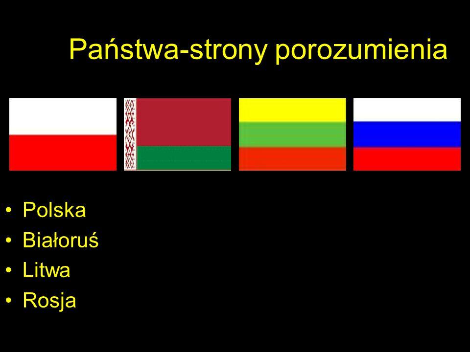 Państwa-strony porozumienia Polska Białoruś Litwa Rosja