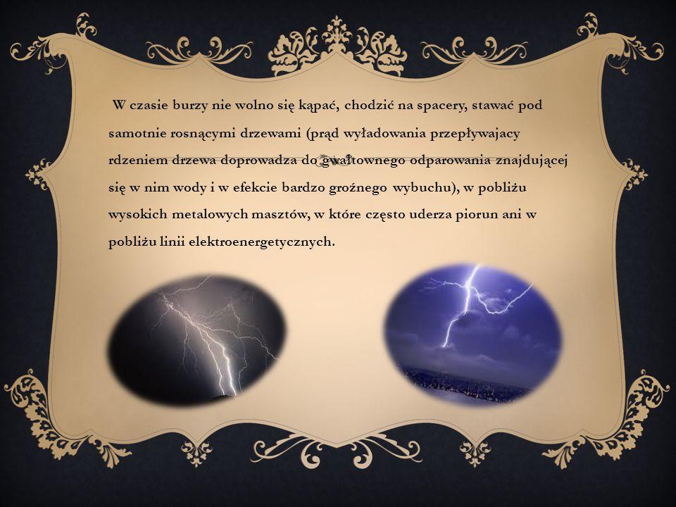 Podczas uderzenia pioruna wyzwala się potężna energia.
