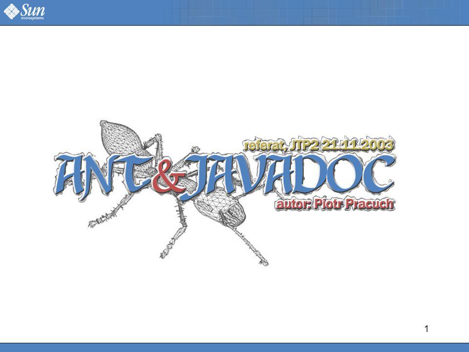 1 REFERAT: ANT&JAVADOC