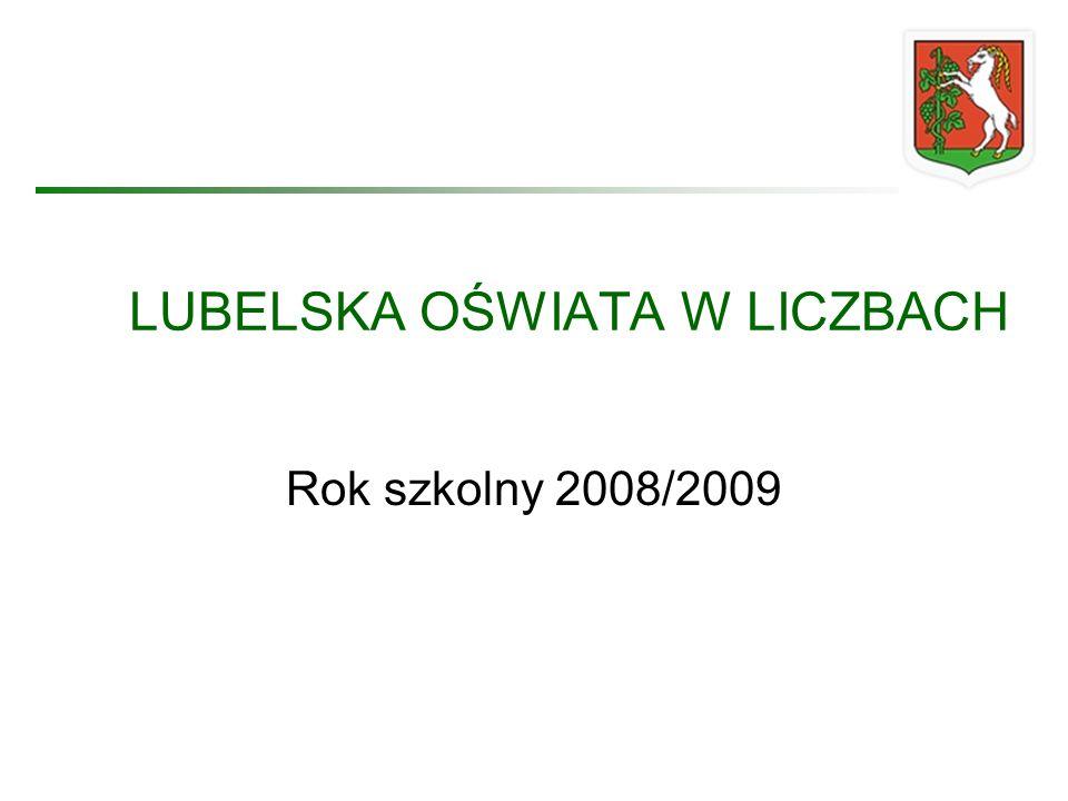 LUBELSKA OŚWIATA W LICZBACH Rok szkolny 2008/2009