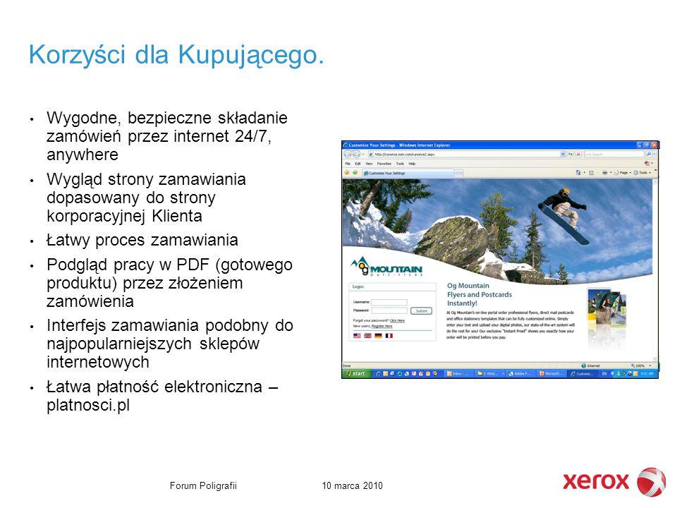 10 marca 2010Forum Poligrafii Korzyści dla Kupującego.
