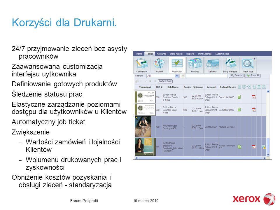 10 marca 2010Forum Poligrafii Korzyści dla Drukarni.