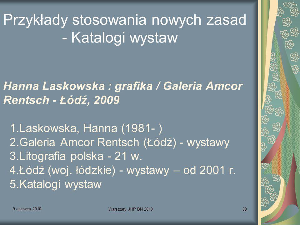 9 czerwca 2010 Warsztaty JHP BN 201030 Hanna Laskowska : grafika / Galeria Amcor Rentsch - Łódź, 2009 1.Laskowska, Hanna (1981- ) 2.Galeria Amcor Rentsch (Łódź) - wystawy 3.Litografia polska - 21 w.
