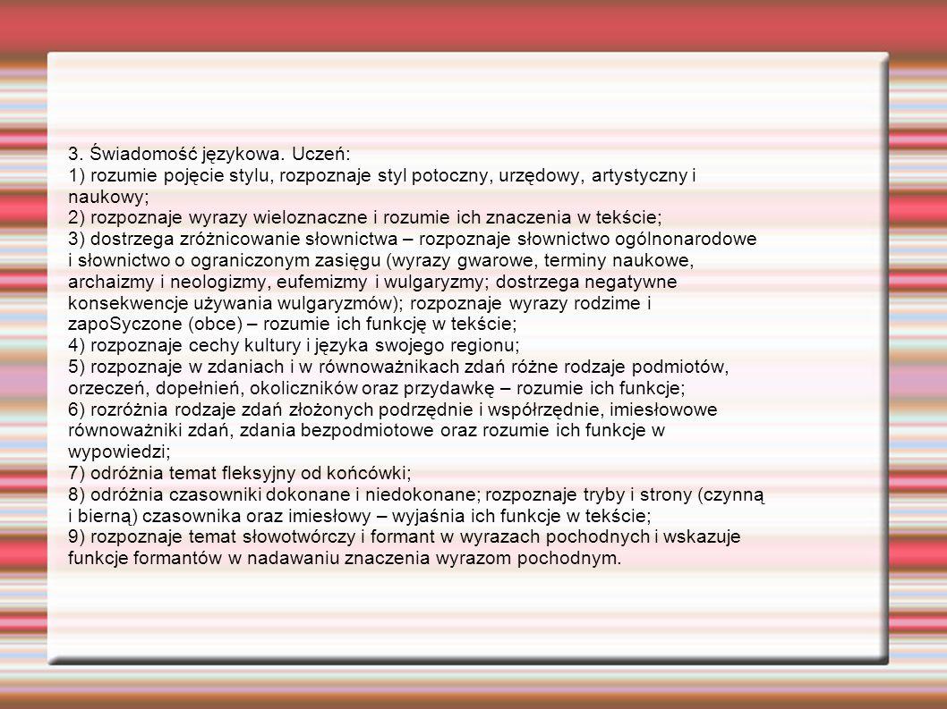 3.Świadomość językowa.