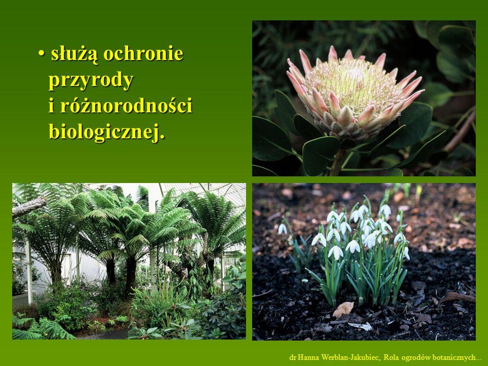 służą ochronie służą ochronie przyrody przyrody i różnorodności i różnorodności biologicznej.