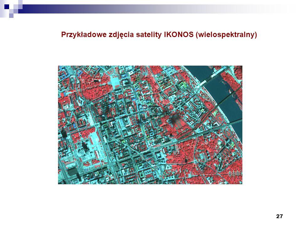 27 Przykładowe zdjęcia satelity IKONOS (wielospektralny)