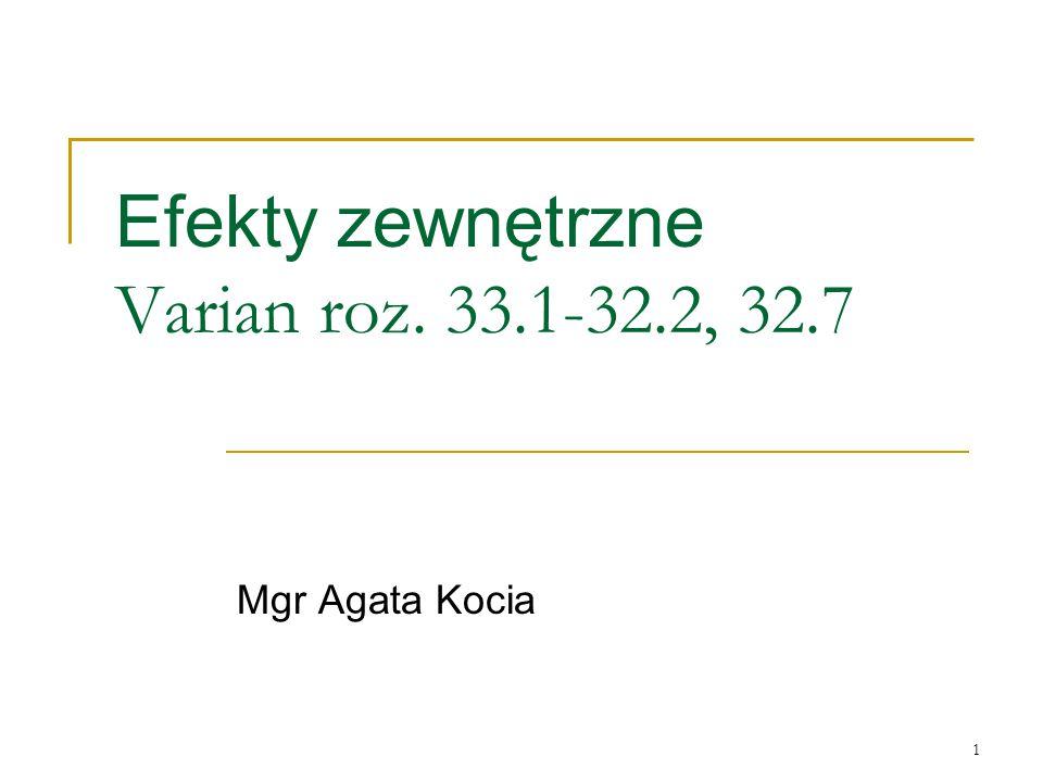 1 Efekty zewnętrzne Varian roz. 33.1-32.2, 32.7 Mgr Agata Kocia