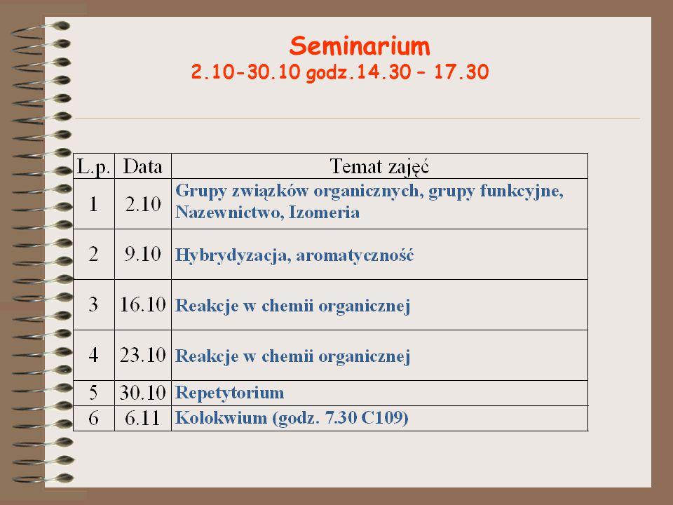 Seminarium 2.10-30.10 godz.14.30 – 17.30