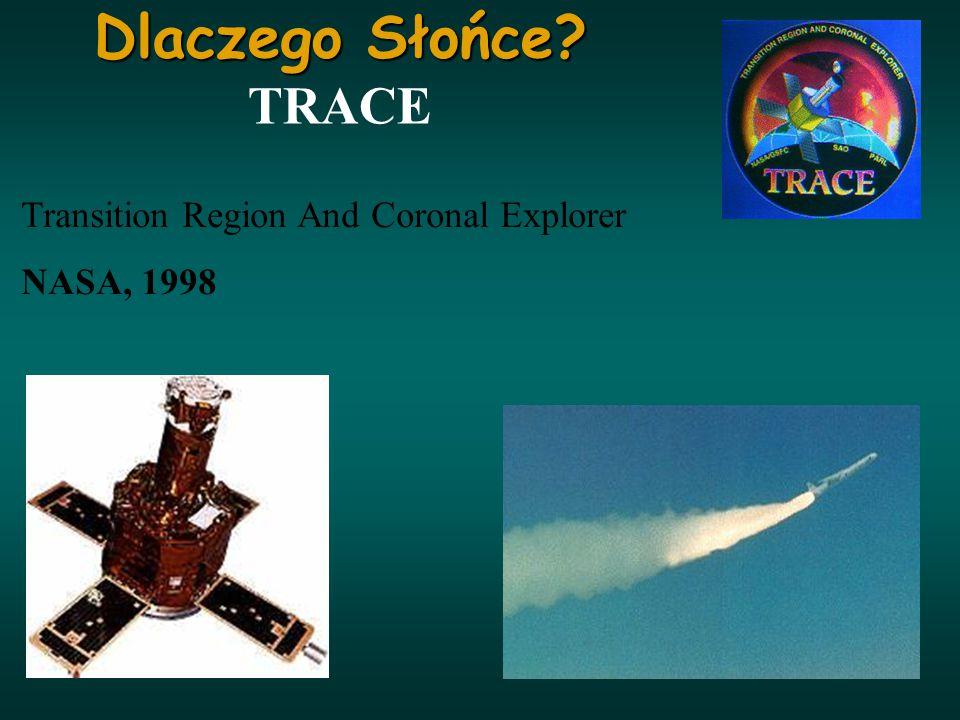 Transition Region And Coronal Explorer NASA, 1998 Dlaczego Słońce? Dlaczego Słońce? TRACE