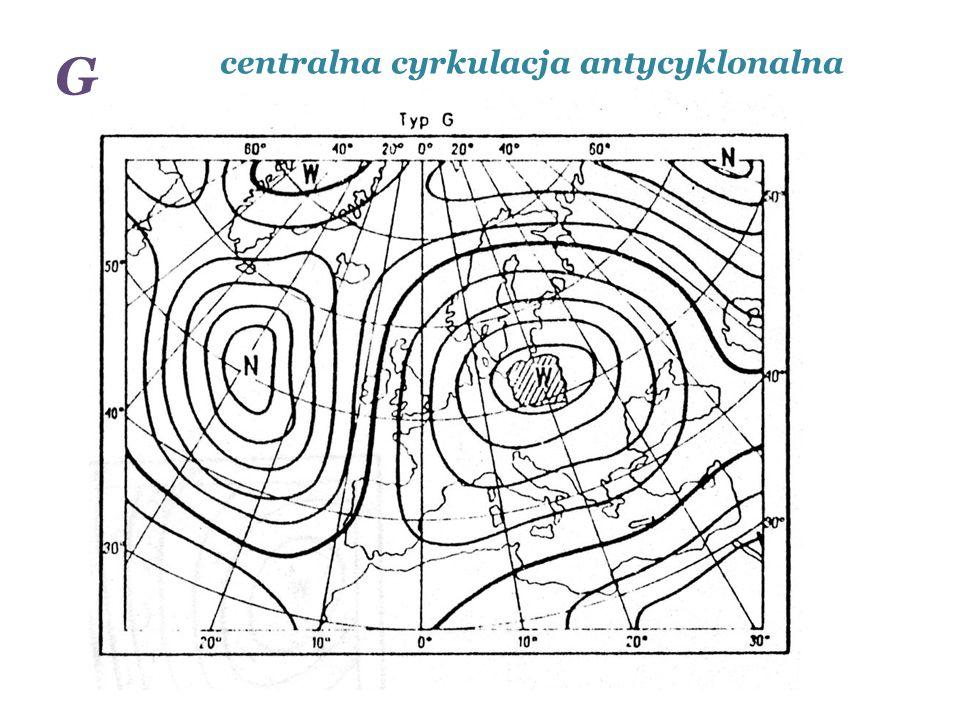 centralna cyrkulacja antycyklonalna G
