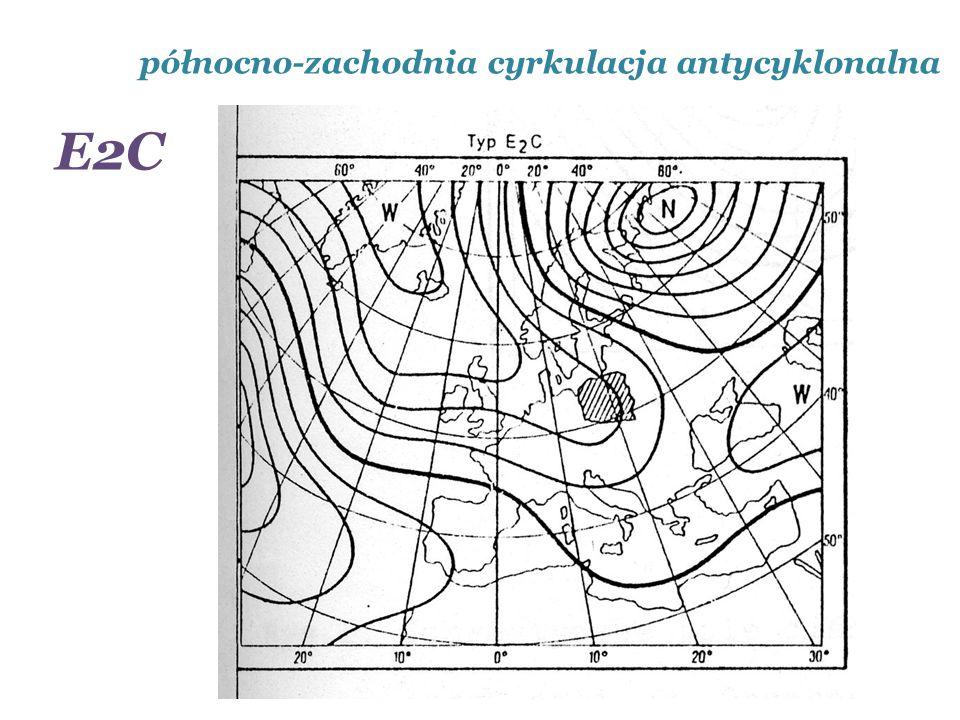 północno-zachodnia cyrkulacja antycyklonalna E2C
