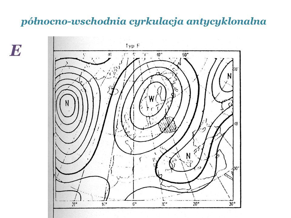 północno-wschodnia cyrkulacja antycyklonalna E