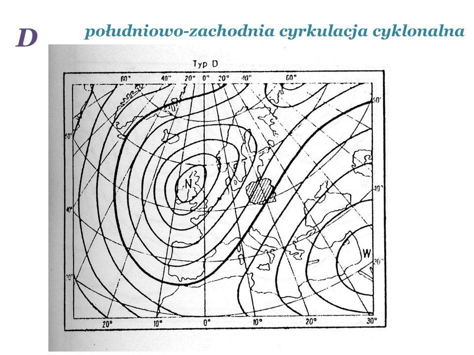 południowo-zachodnia cyrkulacja cyklonalna D