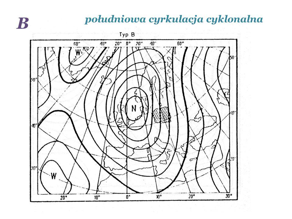 południowa cyrkulacja cyklonalna B
