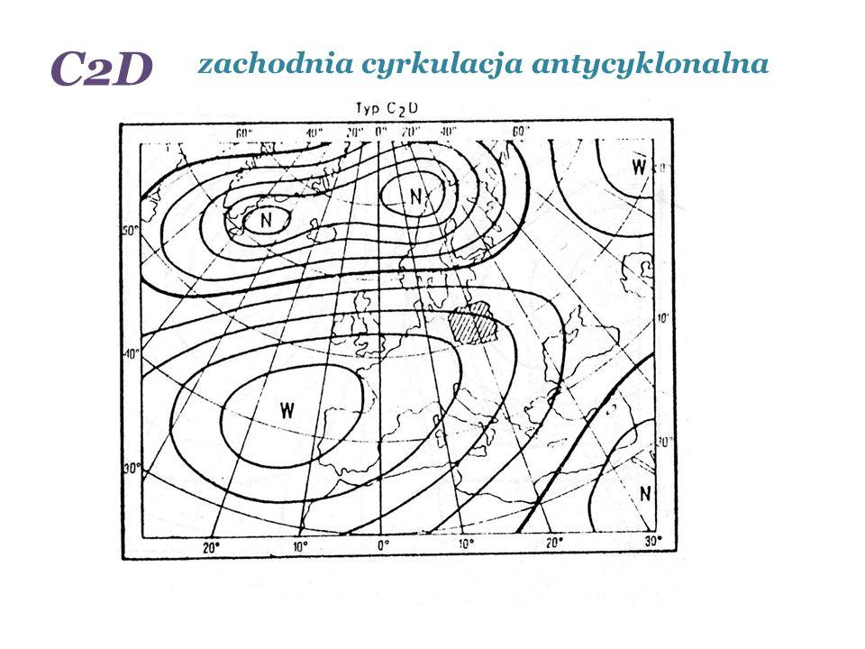 zachodnia cyrkulacja antycyklonalna C2D