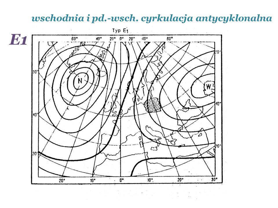 wschodnia i pd.-wsch. cyrkulacja antycyklonalna E1