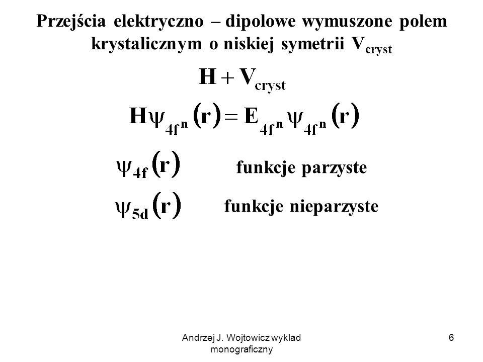 Andrzej J.Wojtowicz wyklad monograficzny 17 Widma Eu 3+ w polu kryst.