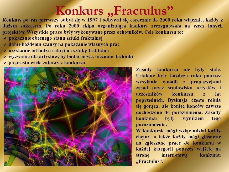 """Konkurs """"Fractulus Konkurs po raz pierwszy odbył się w 1997 i odbywał się corocznie do 2000 roku włącznie, każdy z dużym sukcesem."""