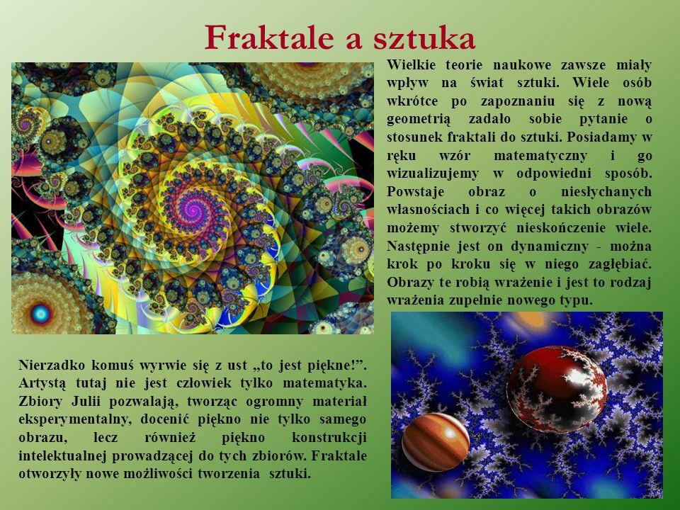 Początki sztuki fraktalnej Pierwsza wystawa, która odbyła się w 1984 roku odniosła wielki sukces i miała swoją kontynuację w książce pt.