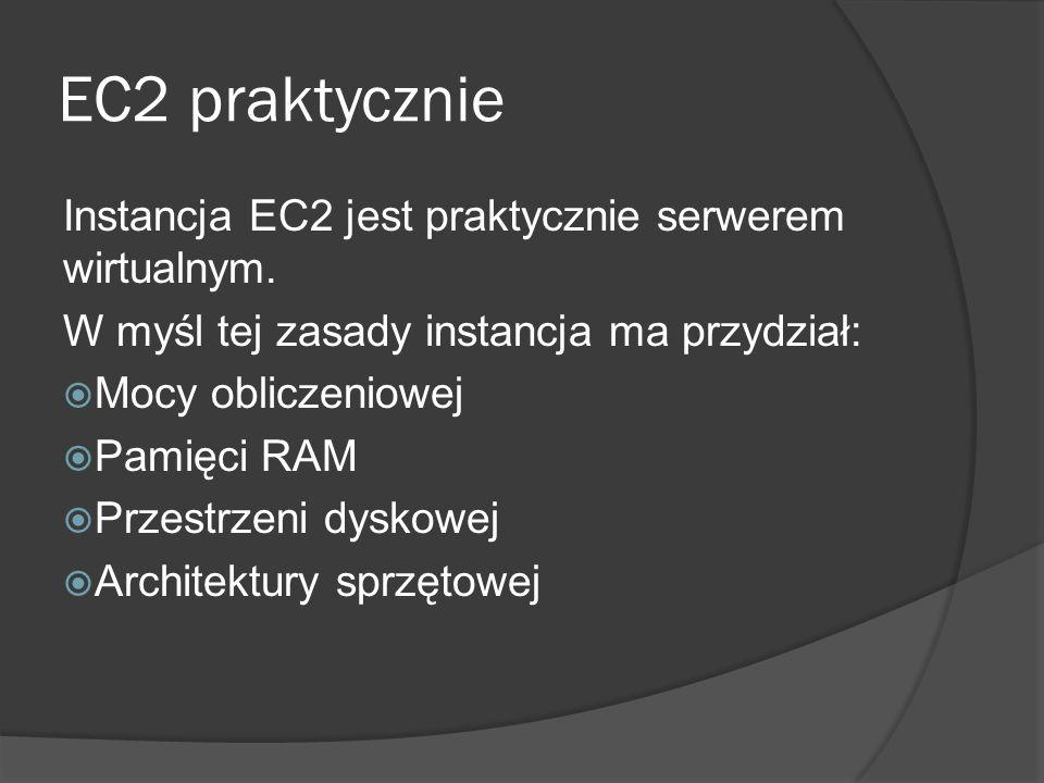 EC2 praktycznie Instancja EC2 jest praktycznie serwerem wirtualnym.