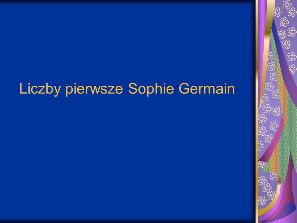 Liczby pierwsze Sophie Germain