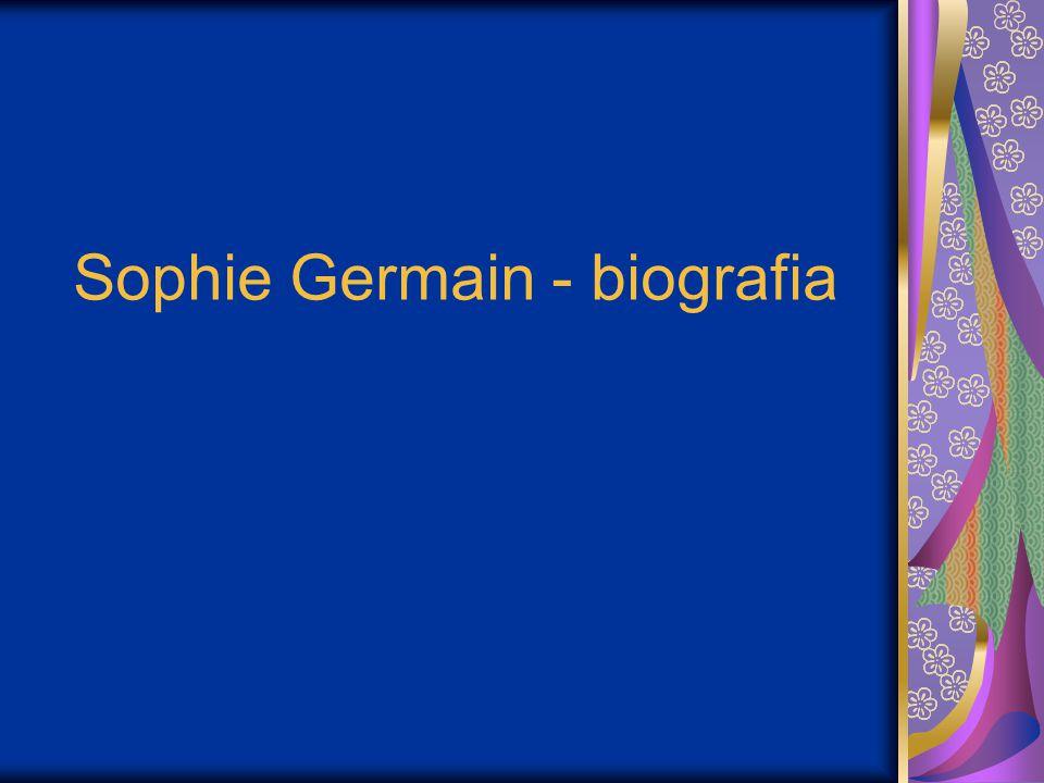 Sophie Germain - biografia