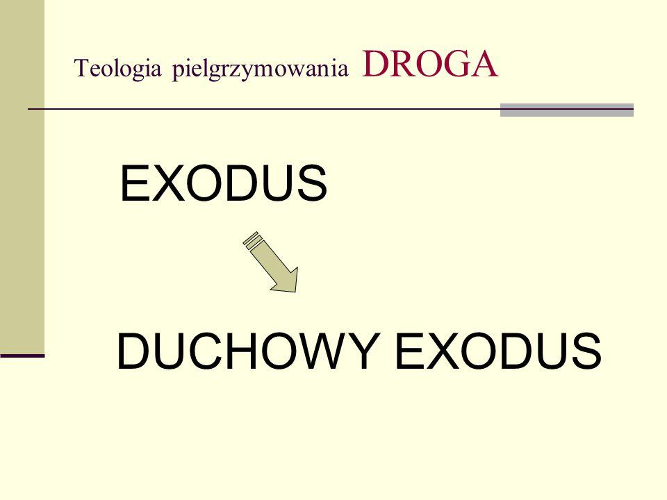 Teologia pielgrzymowania DROGA EXODUS DUCHOWY EXODUS