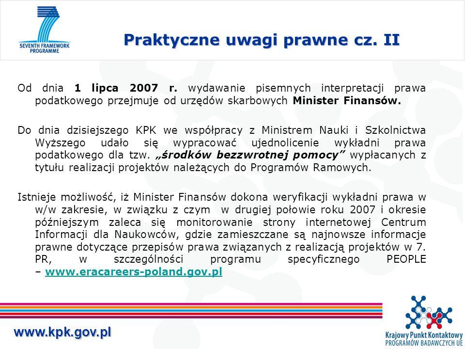 www.kpk.gov.pl Praktyczne uwagi prawne cz. II Od dnia 1 lipca 2007 r.