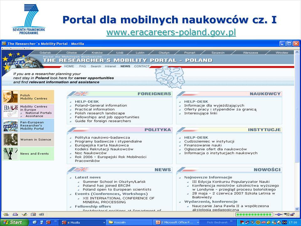 www.kpk.gov.pl Portal dla mobilnych naukowców cz.