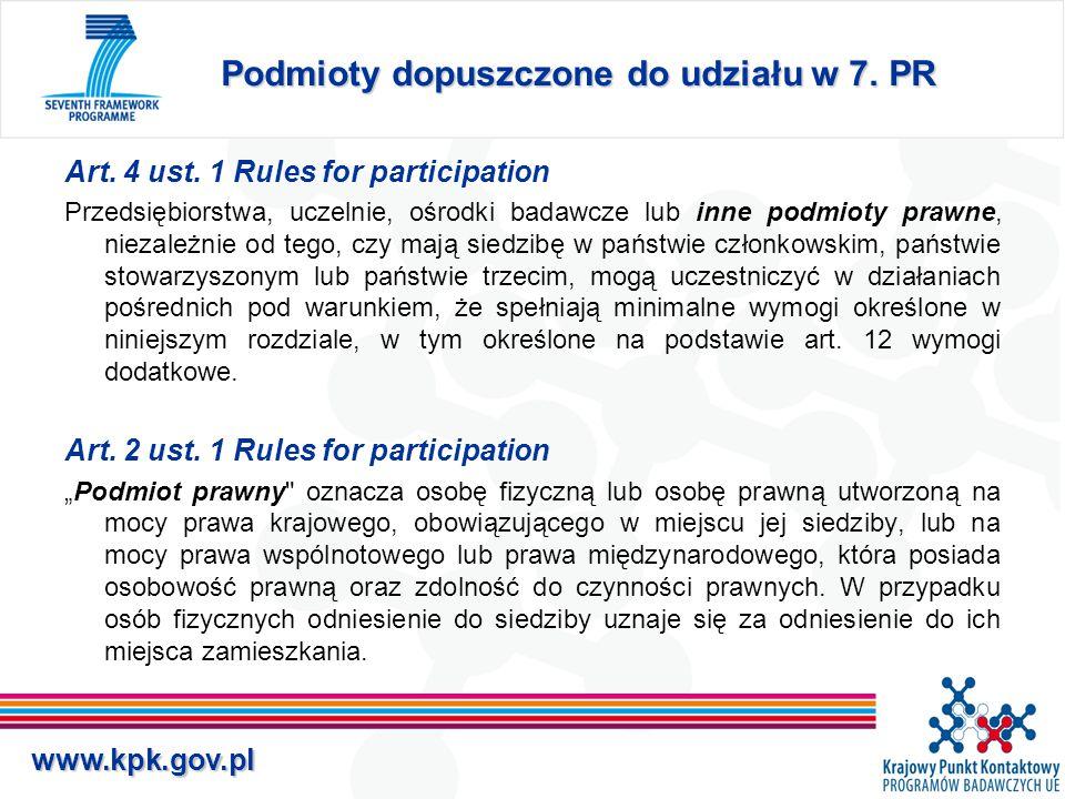 www.kpk.gov.pl Podmioty dopuszczone do udziału w 7.
