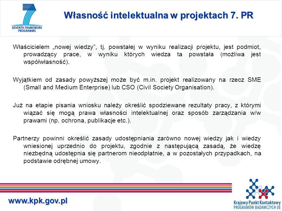 www.kpk.gov.pl Własność intelektualna w projektach 7.