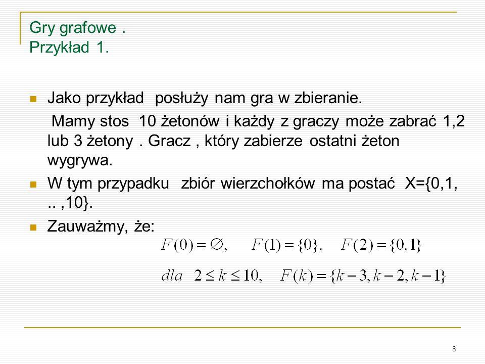 19 Sumy gier Kombinatorycznych.c.d 4.