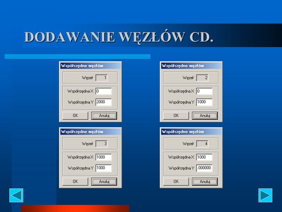 DODAWANIE WĘZŁÓW CD.