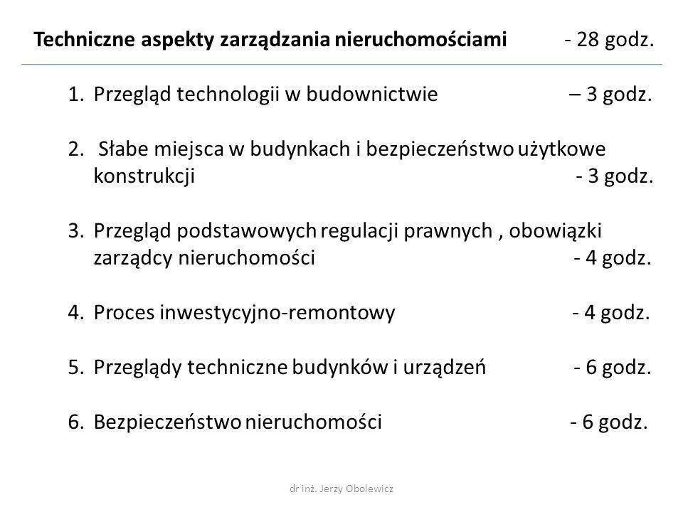 Techniczne aspekty zarządzania nieruchomościami Nieruchomość (Słownik Języka Polskiego) – dobra nieruchome, nieprzenośne, jak place, budynki, lasy, majątki ziemskie ….