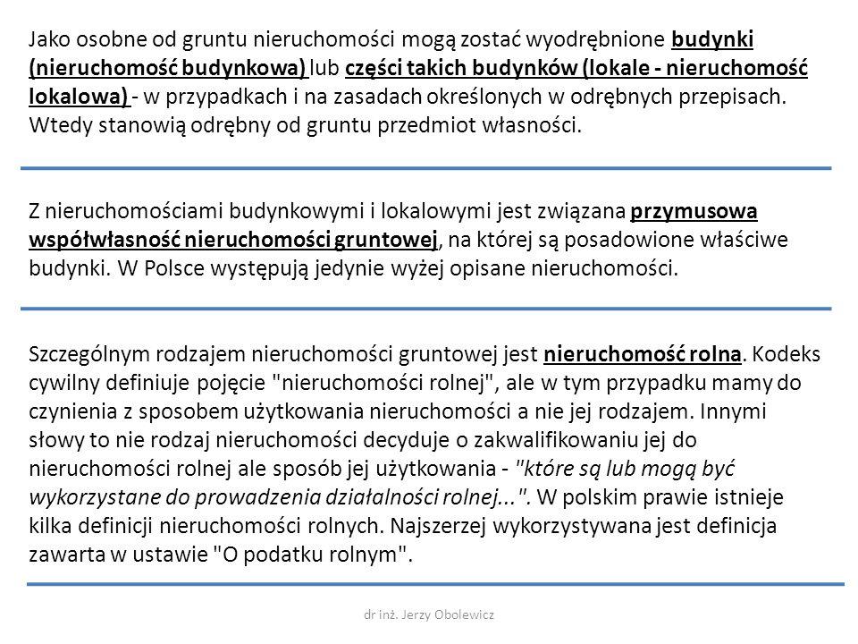 W polskim ustawodawstwie istnieje pojęcie nieruchomości budynkowej.