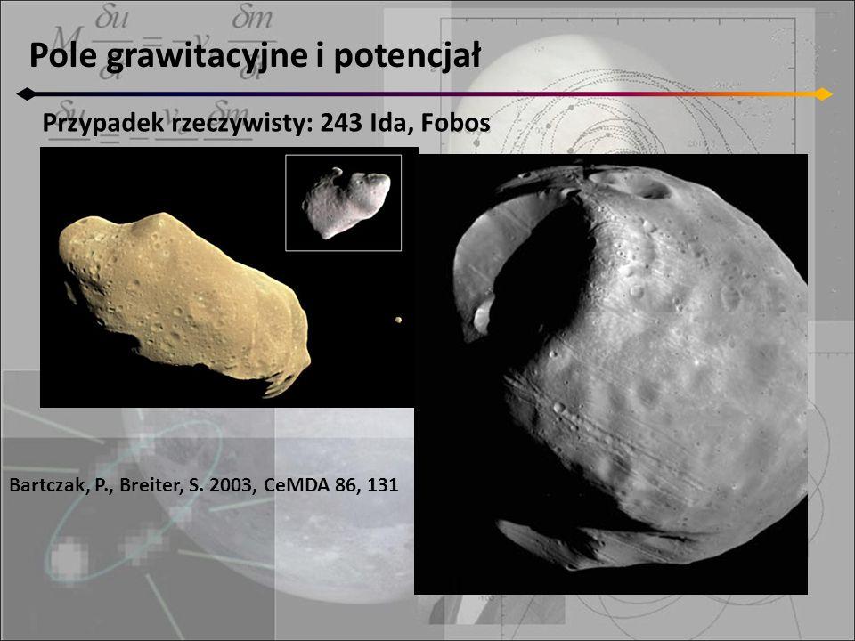 Pole grawitacyjne i potencjał Przypadek rzeczywisty: 243 Ida, Fobos Bartczak, P., Breiter, S.
