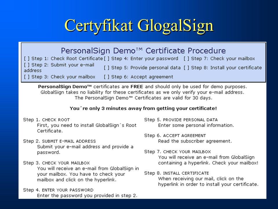 Certyfikat GlogalSign