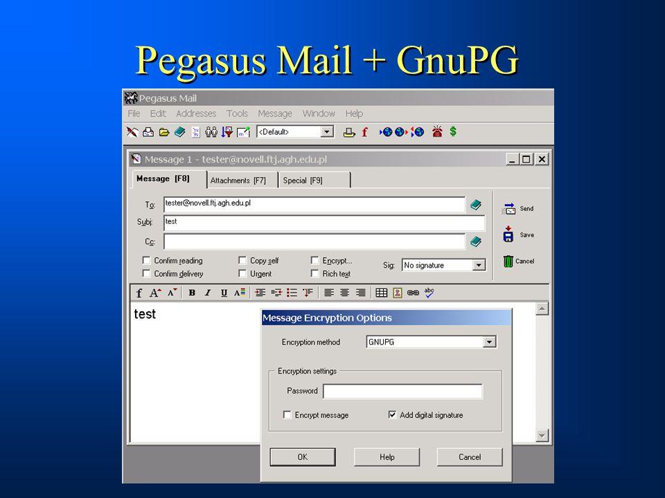 Pegasus Mail + GnuPG